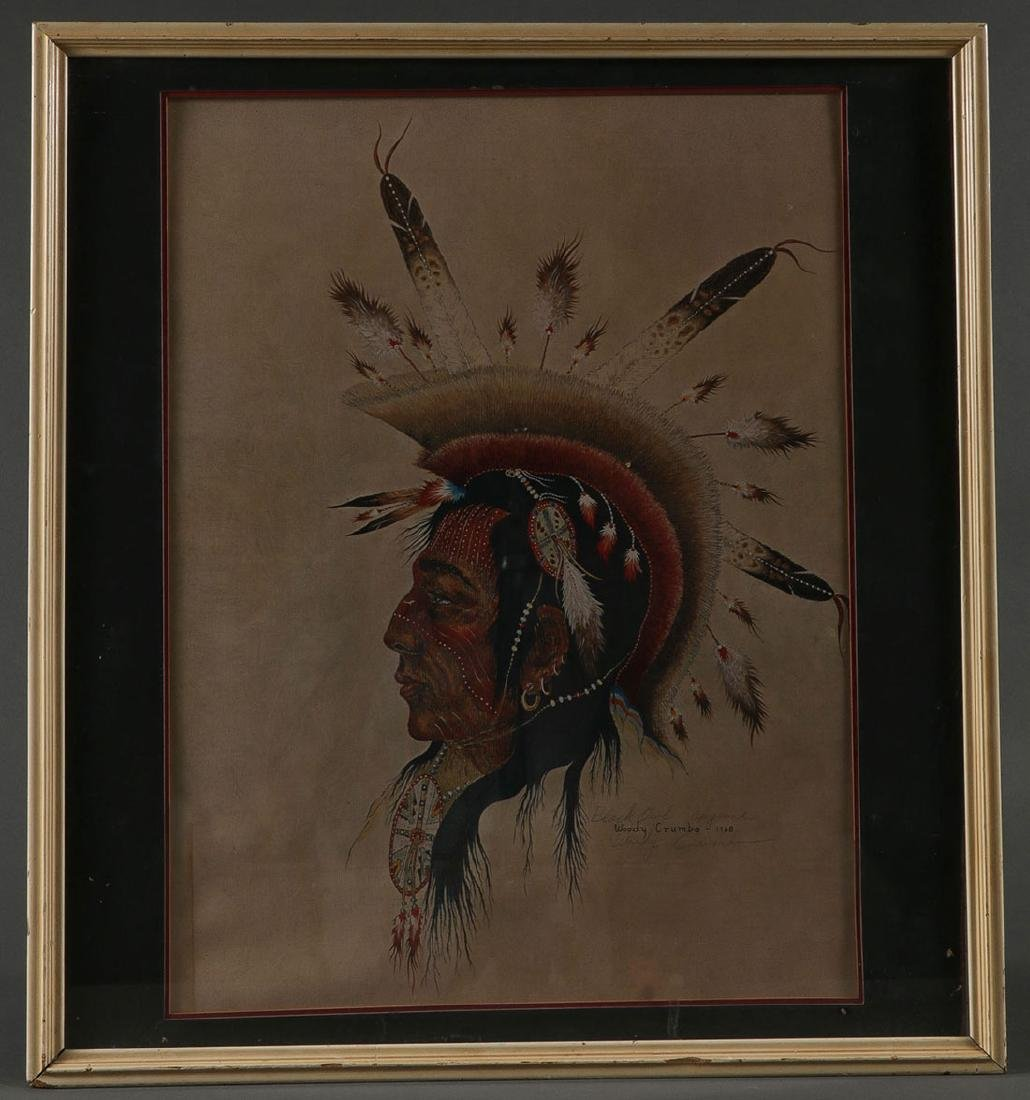 SEVENTEEN NATIVE AMERICAN THEMED WORKS ON PAPER - 3