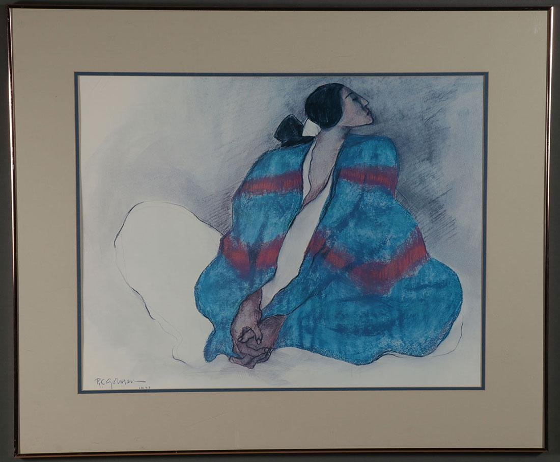 A GROUP OF NATIVE AMERICAN THEMED FRAMED PRINTS - 2