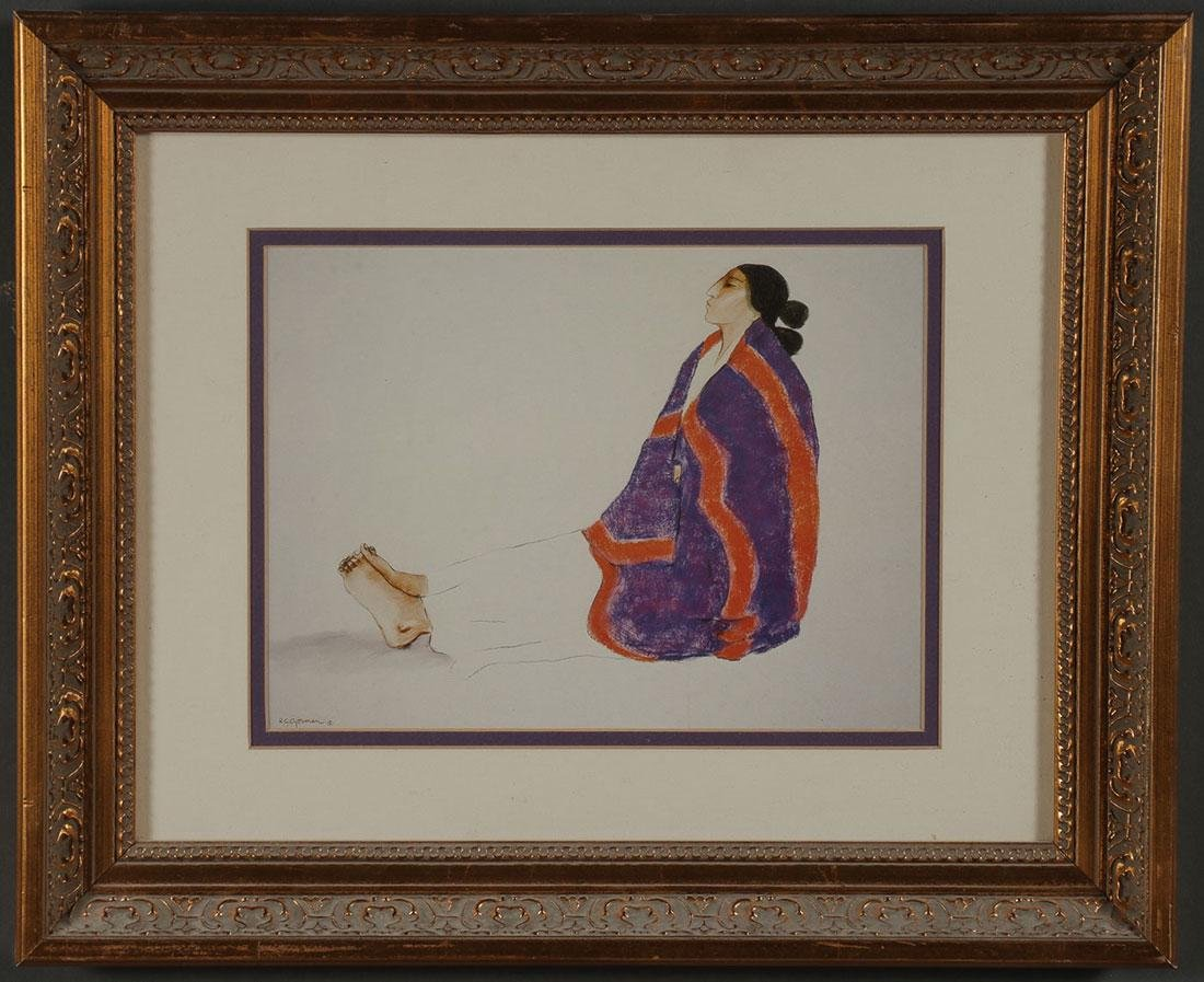 A GROUP OF NATIVE AMERICAN THEMED FRAMED PRINTS - 7