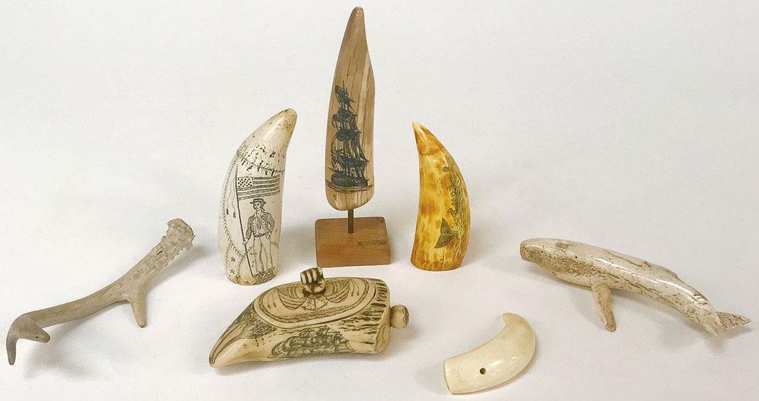 A GROUP OF KNIVES AND SCRIMSHAW - 2