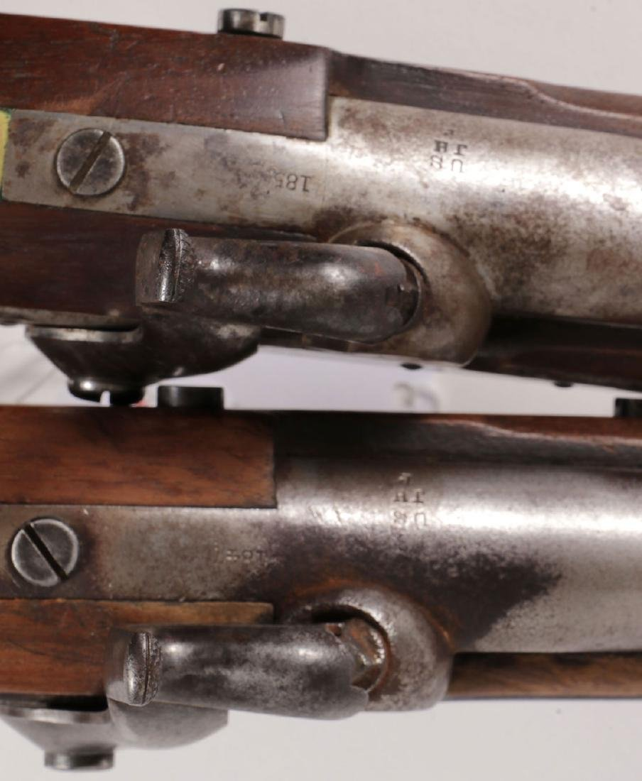 A PAIR OF ASTON US MODEL 1842 MARTIAL PISTOLS - 4
