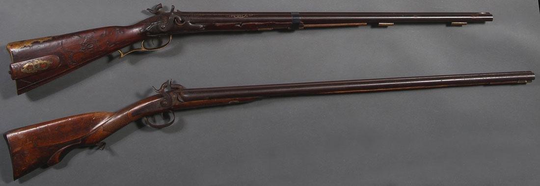 A BAVARIAN PERCUSSION SHOTGUN, CIRCA 1800