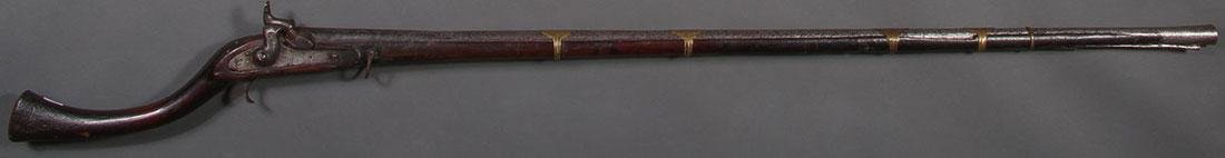 A PERCUSSION PERSIAN STYLE CAMEL GUN MUSKET