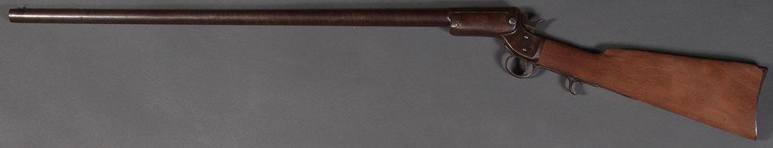 A STEVENS SINGLE SHOT TIP-UP SHOTGUN, 12 GAUGE - 2