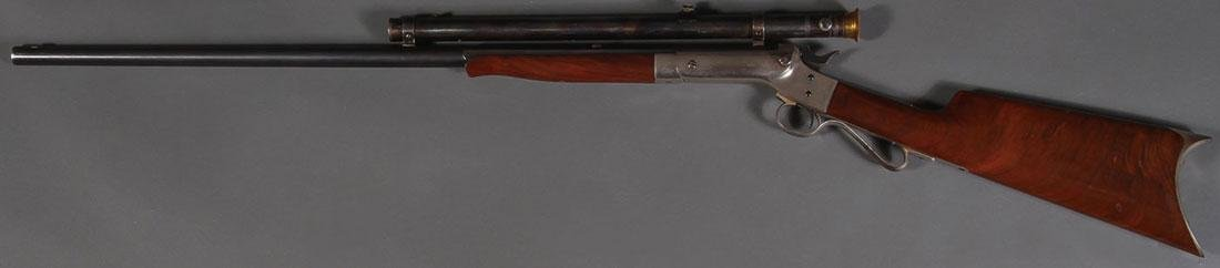 A STEVENS MODEL 12 TIP-UP RIFLE