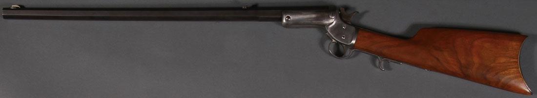 A STEVENS SINGLE SHOT TIP-UP RIFLE