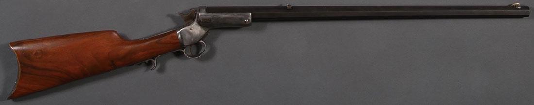 A STEVENS SINGLE SHOT TIP-UP RIFLE - 2