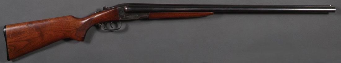 A STEVENS MODEL 5100 DOUBLE BARREL SHOTGUN