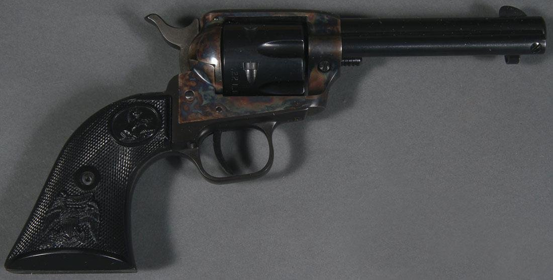 A COLT 22 PEACEMAKER SINGLE ACTION REVOLVER