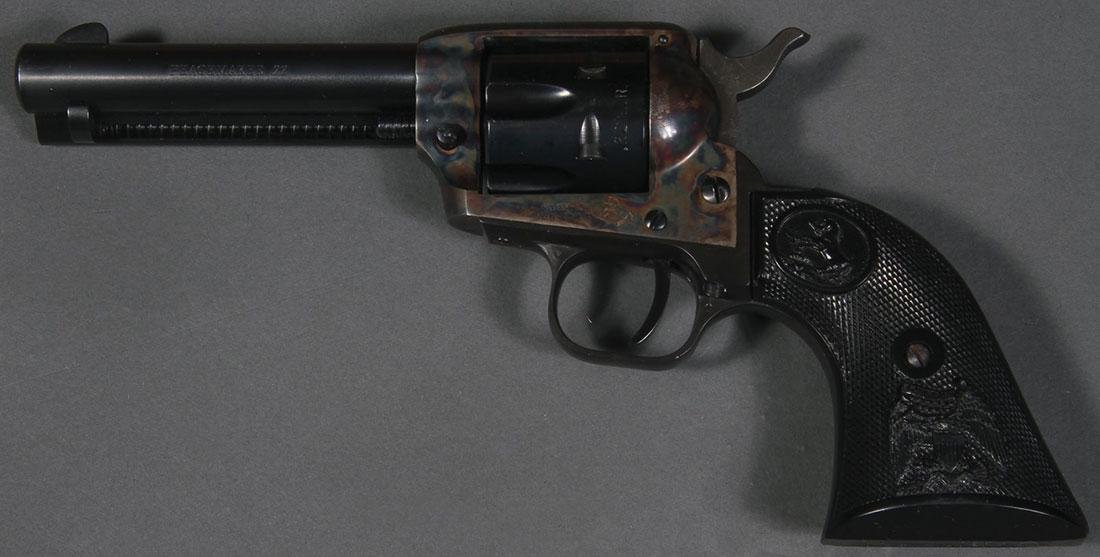 A COLT 22 PEACEMAKER SINGLE ACTION REVOLVER - 2