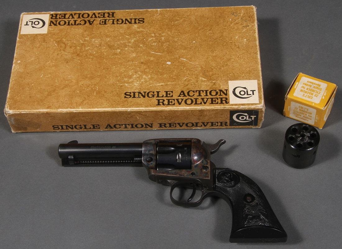 A COLT 22 PEACEMAKER SINGLE ACTION REVOLVER - 3