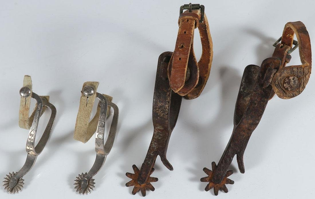 A PAIR OF SPURS, 19TH AND 20TH CENTURY