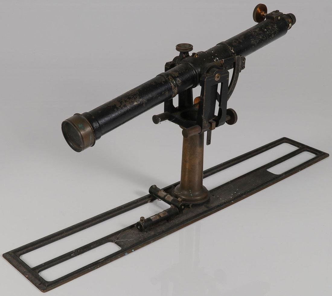 A TRANSIT AND A TELESCOPE, 19TH CENTURY
