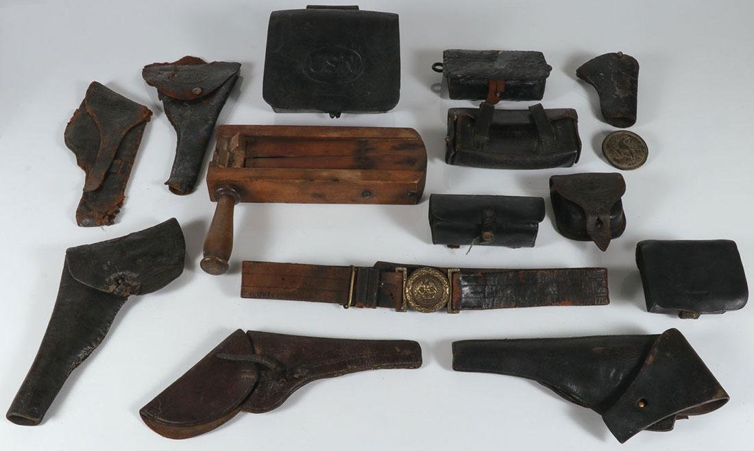 US CIVIL WAR LEATHER AND OTHER RELATED ITEMS