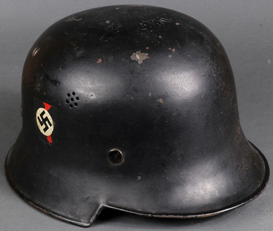TWO GERMAN WWII HELMETS - 2