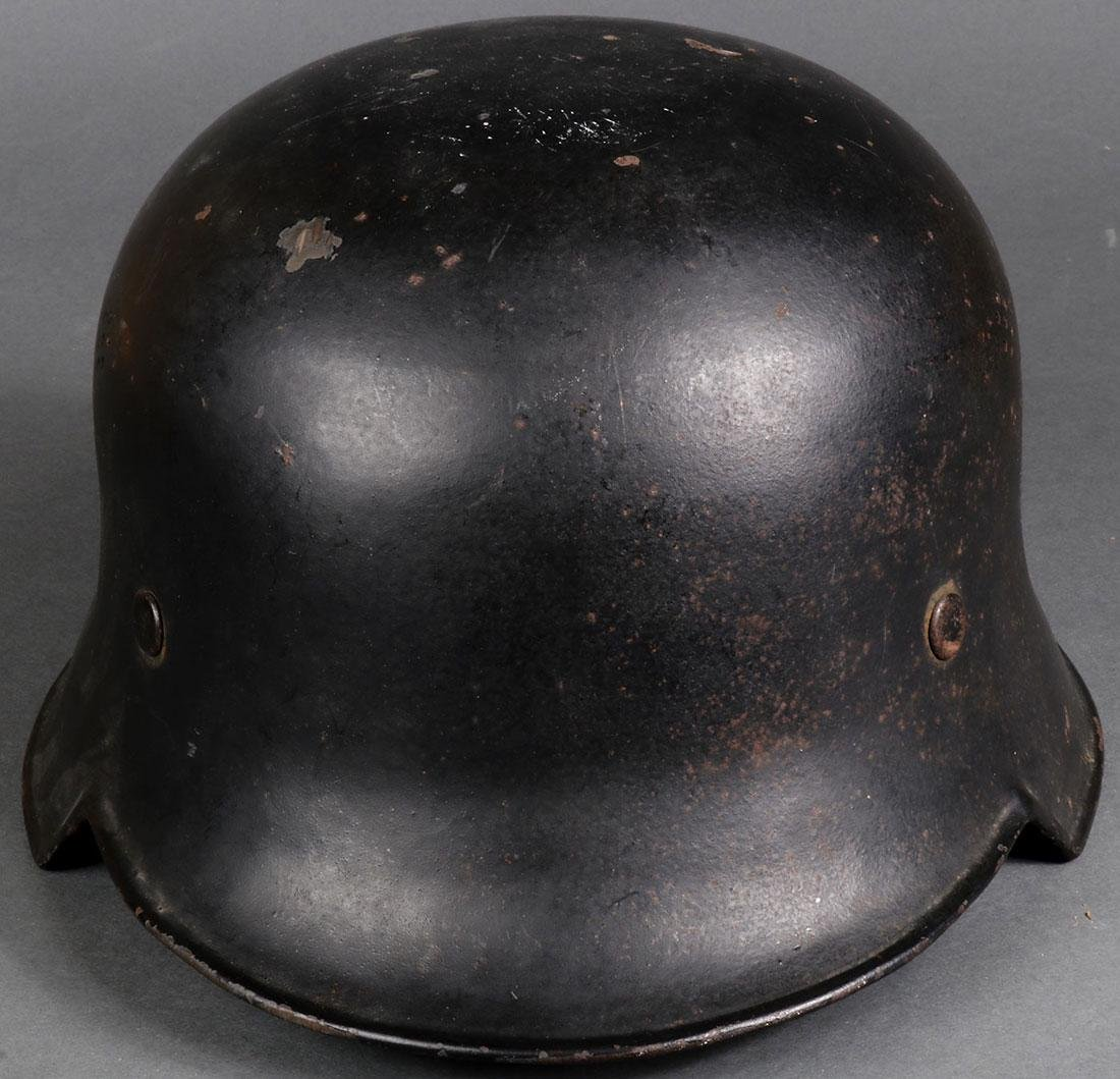 TWO GERMAN WWII HELMETS - 3
