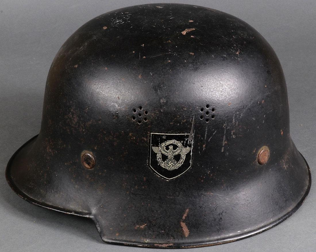 TWO GERMAN WWII HELMETS - 4