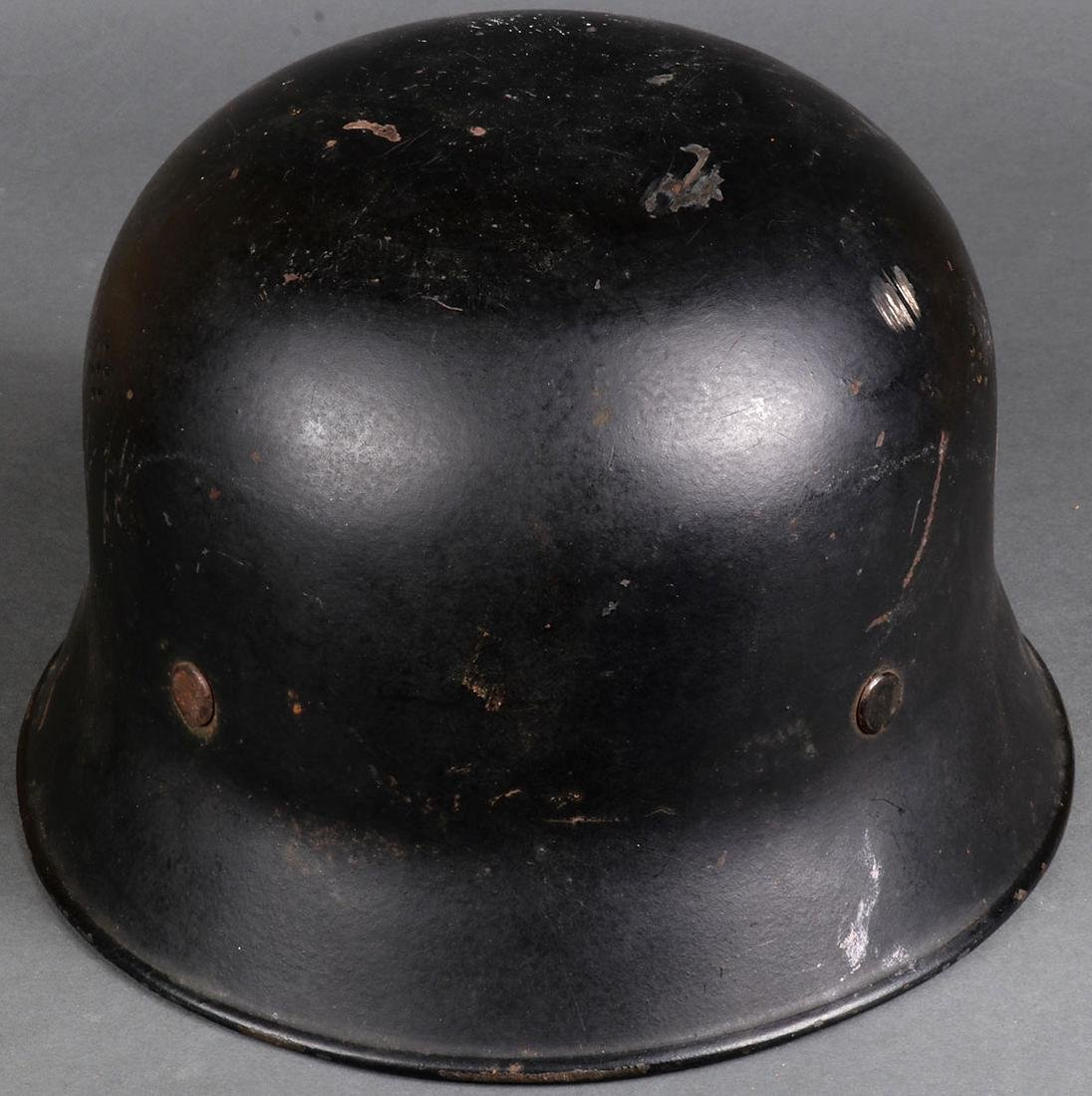 TWO GERMAN WWII HELMETS - 5