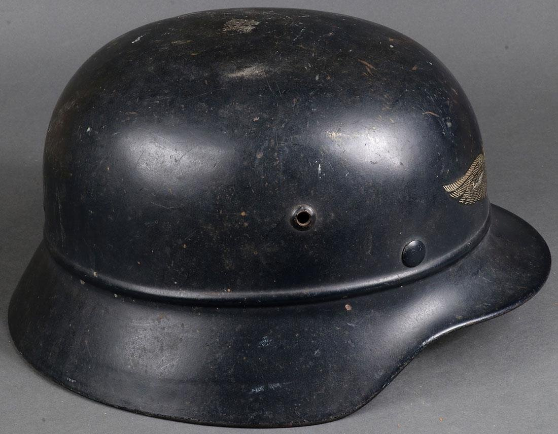 TWO GERMAN WWII HELMETS - 7