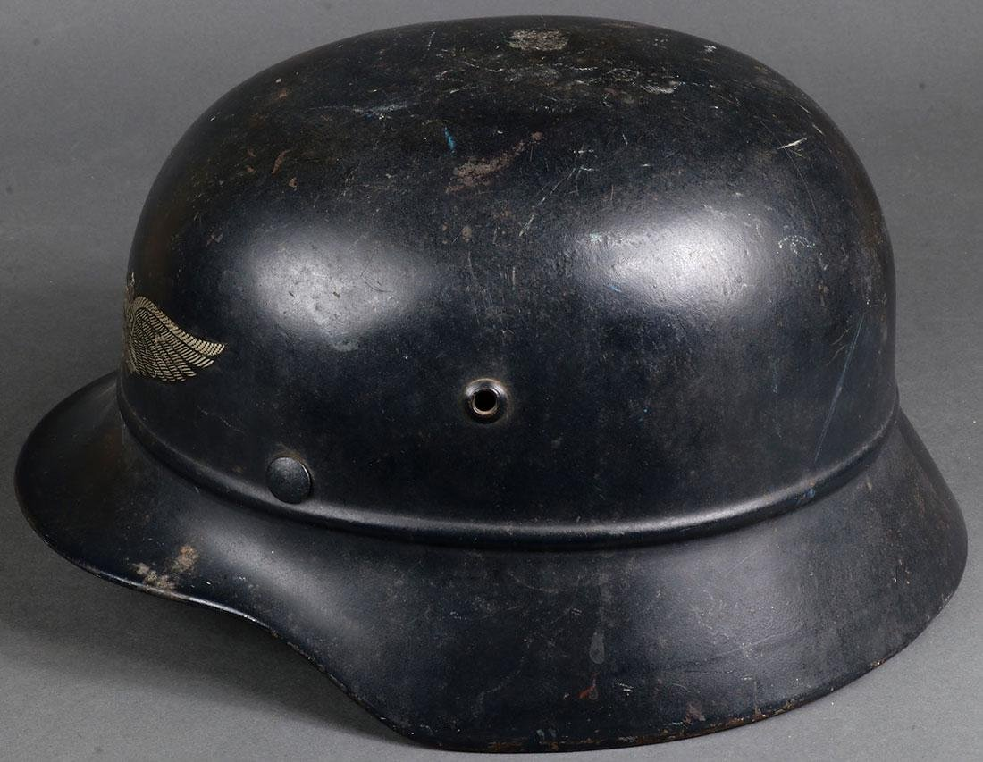 TWO GERMAN WWII HELMETS - 9