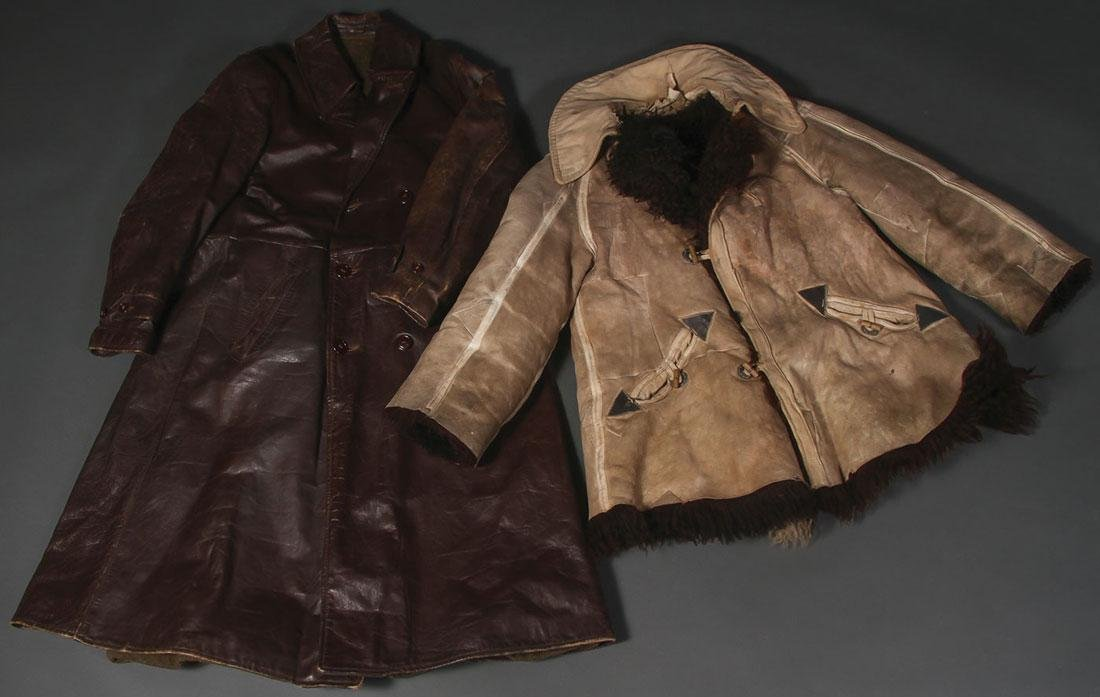 A GERMAN WWII FLEECE LINED SHEEP SKIN WINTER COAT