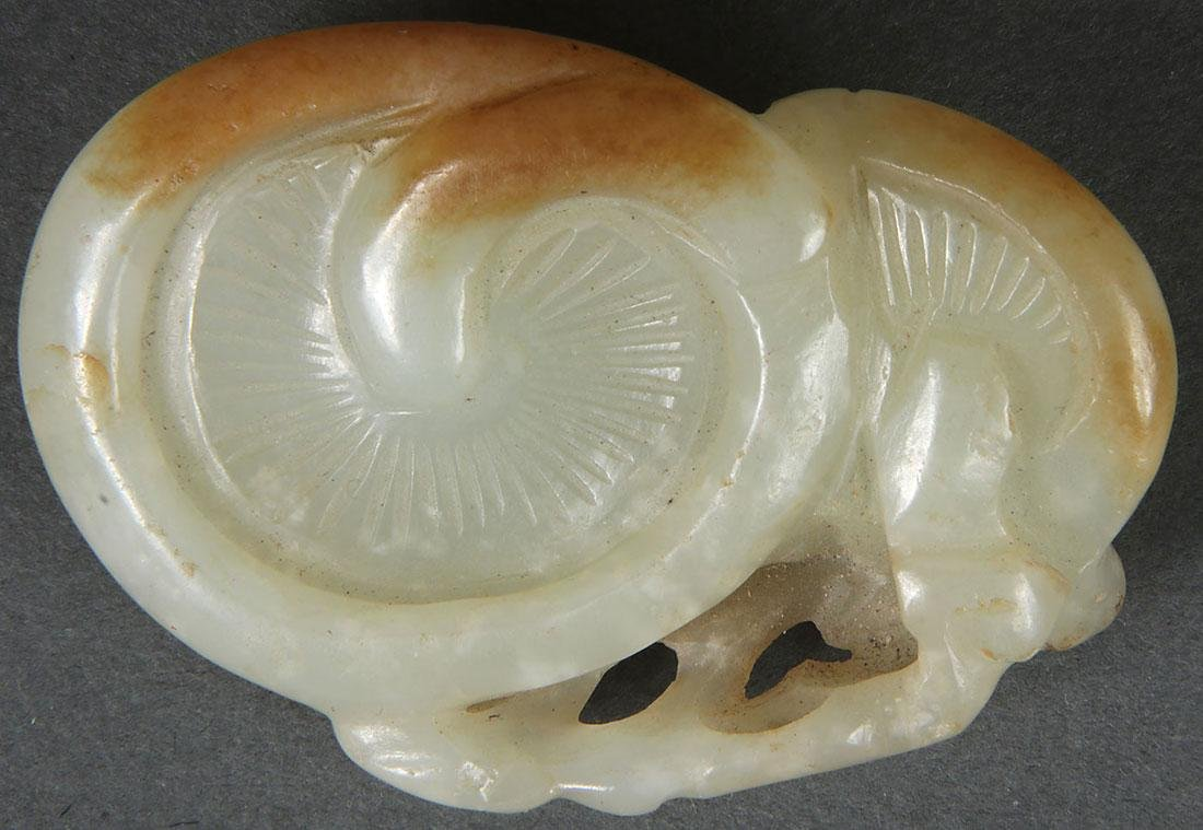 8 CHINESE CARVED JADE PENDANTS, QING DYNASTY - 4