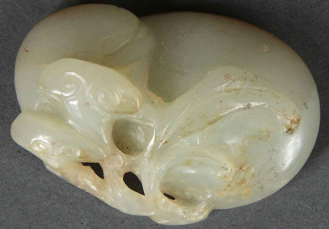 8 CHINESE CARVED JADE PENDANTS, QING DYNASTY - 5
