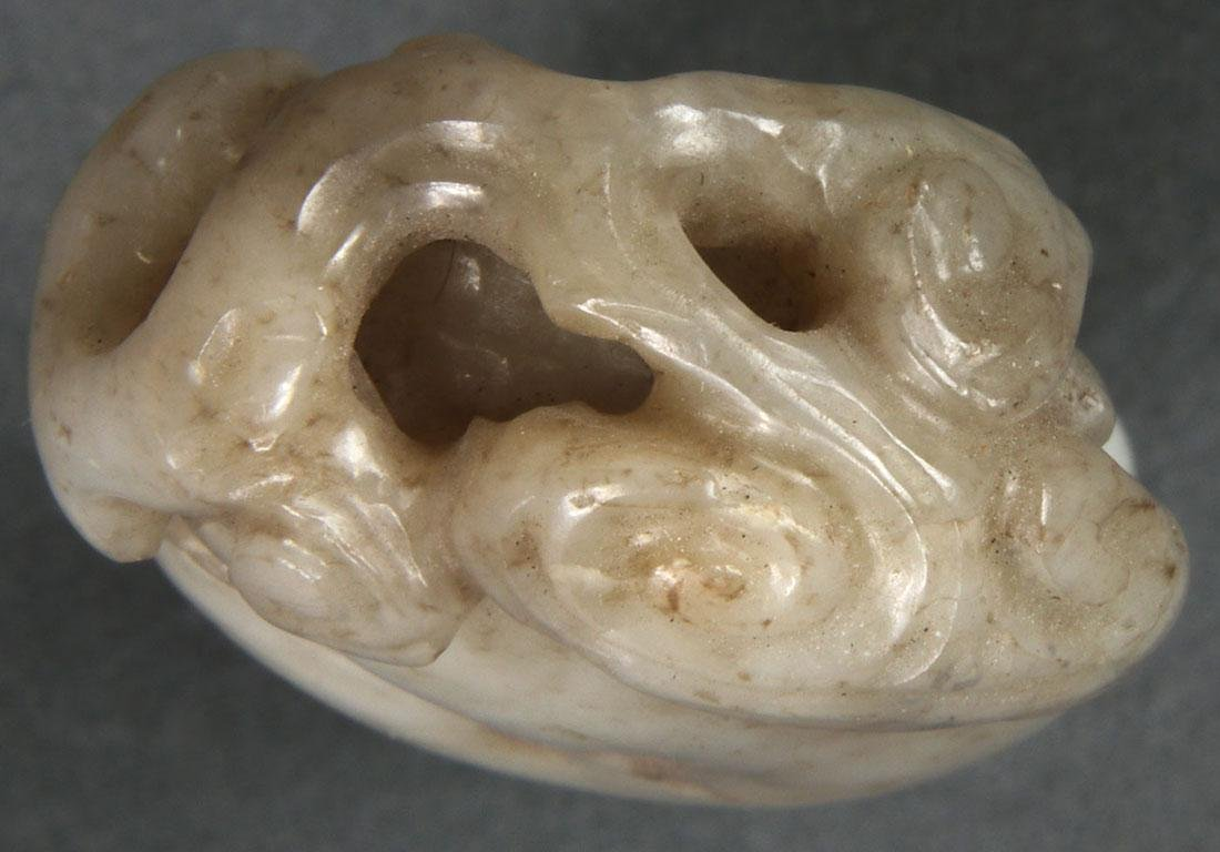 8 CHINESE CARVED JADE PENDANTS, QING DYNASTY - 8