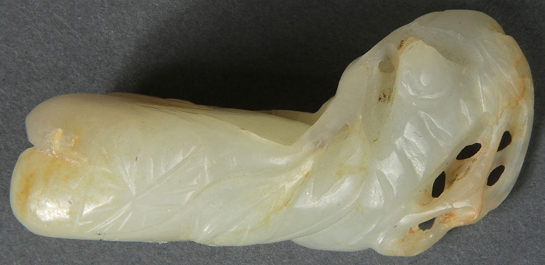 8 CHINESE CARVED JADE PENDANTS, QING DYNASTY - 3