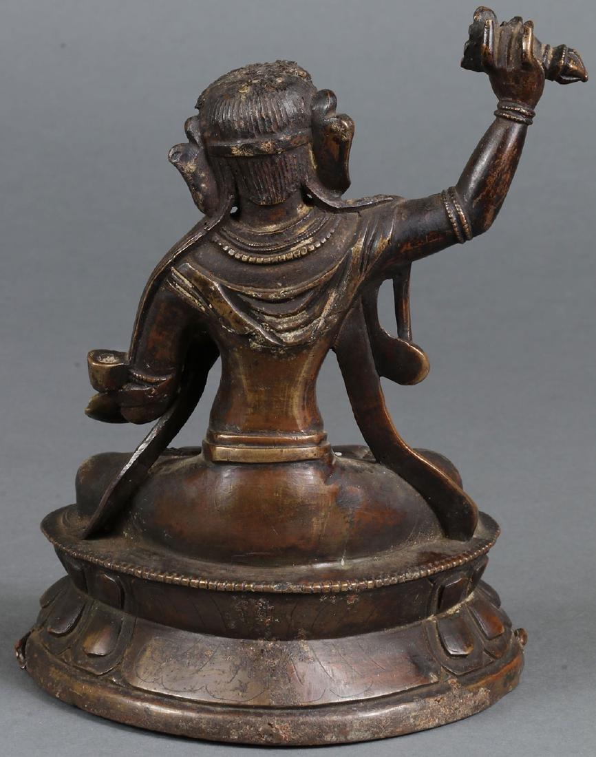 A PAIR OF SINO-TIBETAN BRONZE BUDDHIST DEITIES - 5