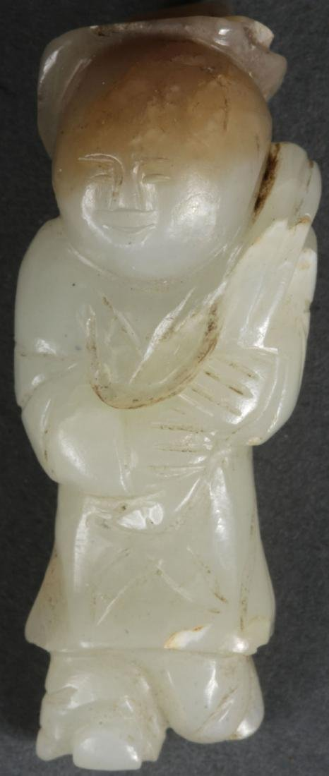 5 CHINESE CARVED JADE PEDANTS, QING DYNASTY - 2
