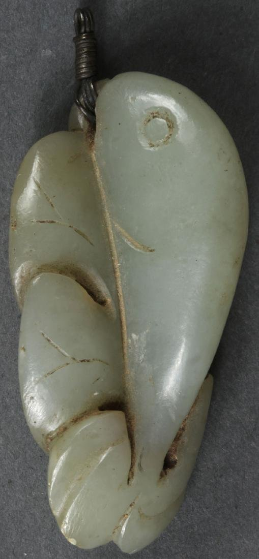 14 CHINESE CARVED JADE PENDANTS, QING DYNASTY - 5