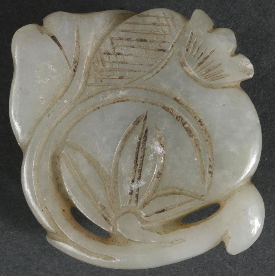 10 CHINESE CARVED JADE PENDANTS, QING DYNASTY - 4