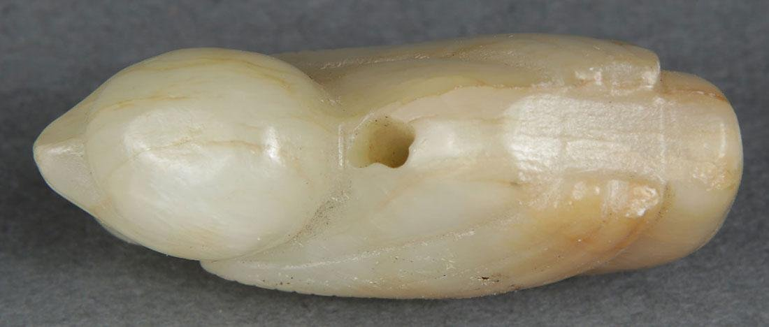 10 CHINESE CARVED JADE PENDANTS, QING DYNASTY - 9