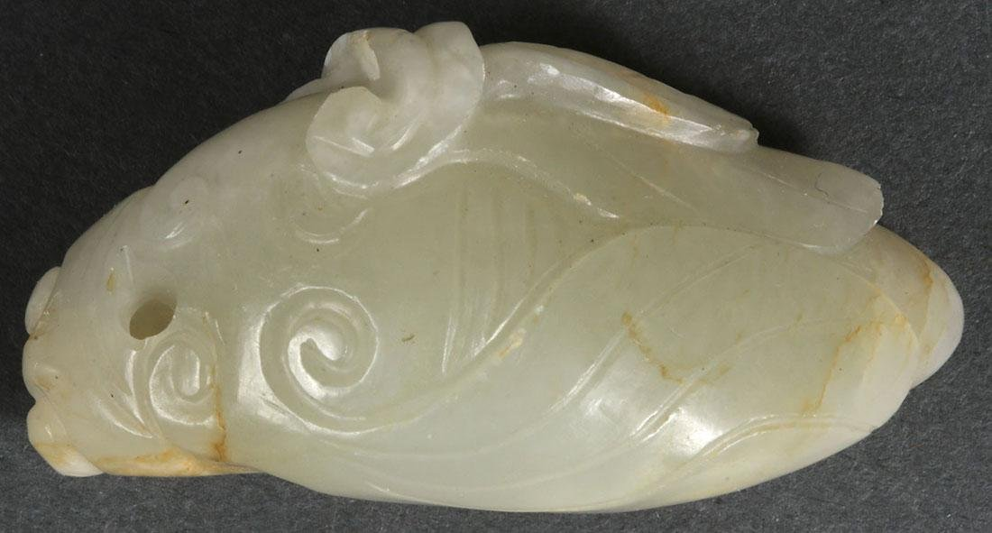 A GROUP OF TWELVE CHINESE CARVED JADE PENDANTS - 6