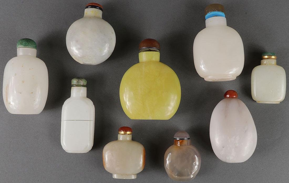 SEVENTEEN CHINESE CARVED SNUFF BOTTLES - 2