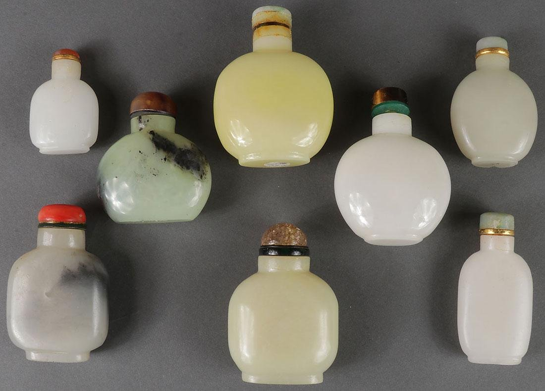 SEVENTEEN CHINESE CARVED SNUFF BOTTLES - 5