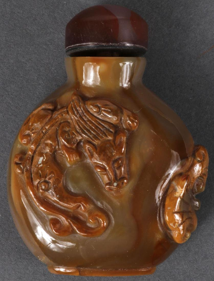 12 CHINESE SNUFF BOTTLES INCLUDING CORAL - 7