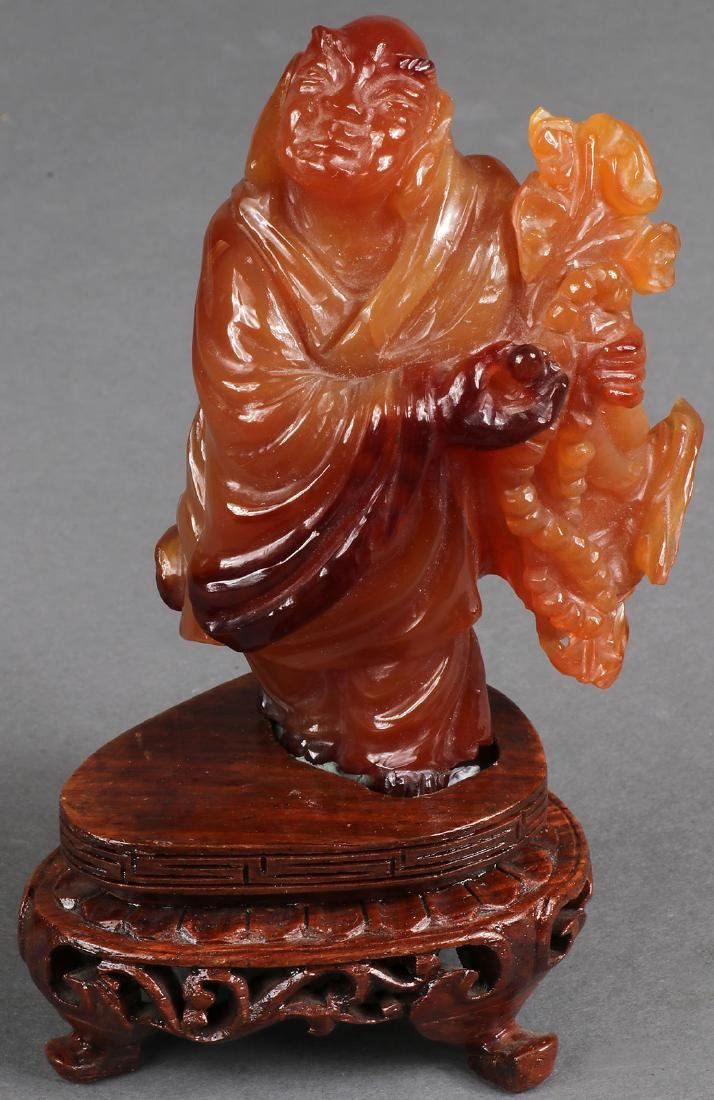 SIX CHINESE CARVED AGATE OBJECTS - 5
