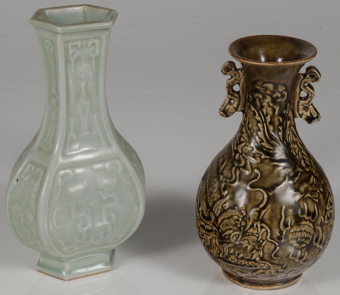 2 CHINESE PORCELAIN VASES WITH MARKS
