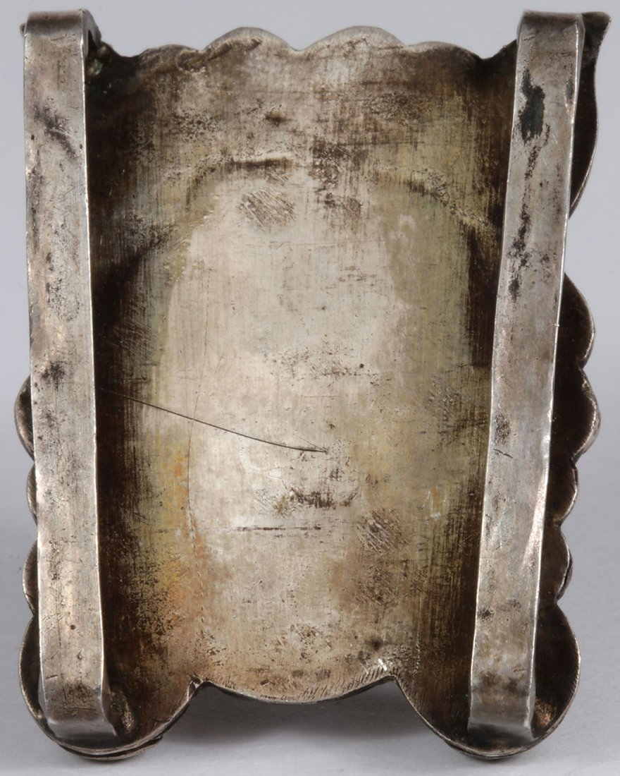A PAIR OF TIBETAN SILVER COVERED VESSELS - 6