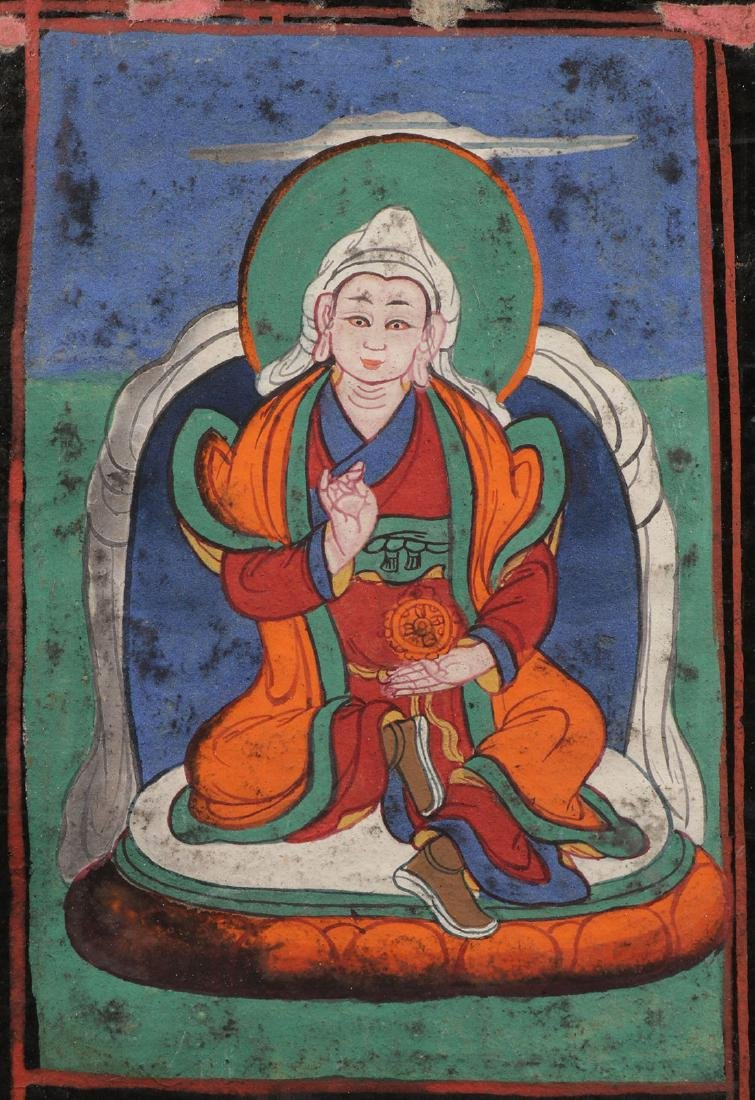 A TIBETAN/HIMALAYAN SUTRA WITH COVERS - 4
