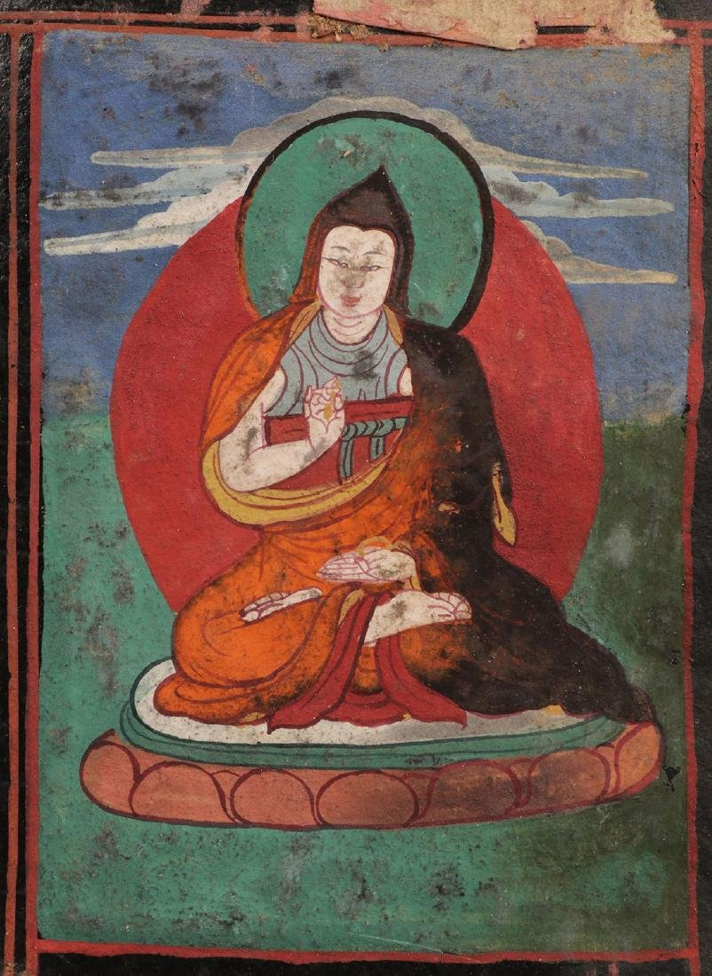 A TIBETAN/HIMALAYAN SUTRA WITH COVERS - 5