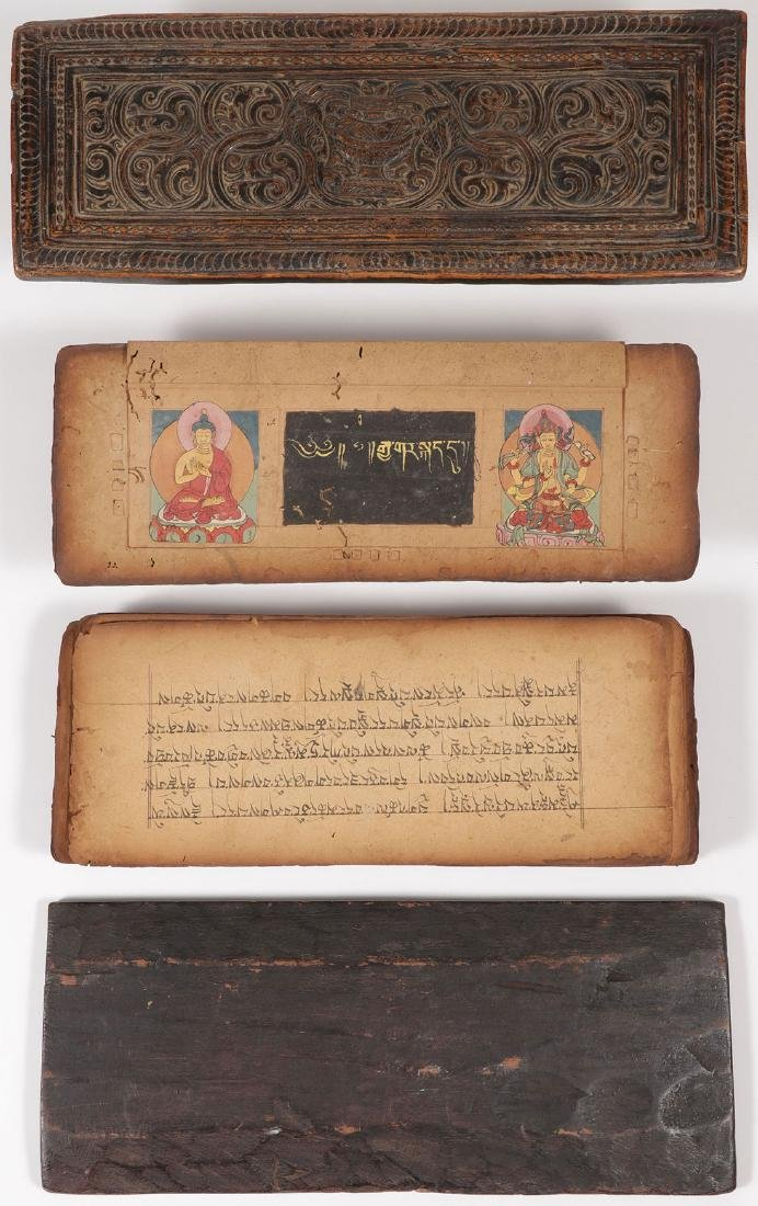 A TIBETAN/HIMALAYAN SUTRA WITH COVERS