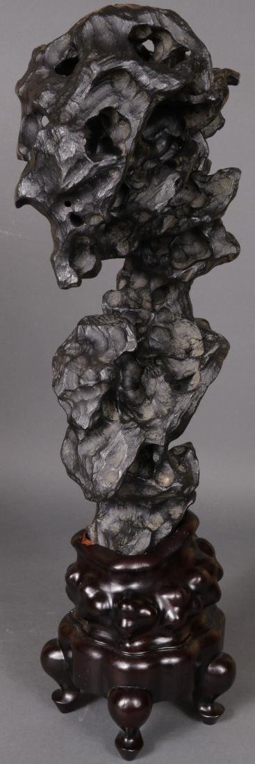 A CHINESE SCHOLAR STYLE ROCK FORM - 4