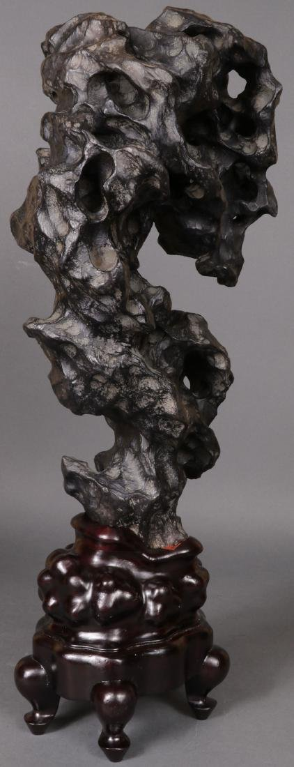 A CHINESE SCHOLAR STYLE ROCK FORM - 7