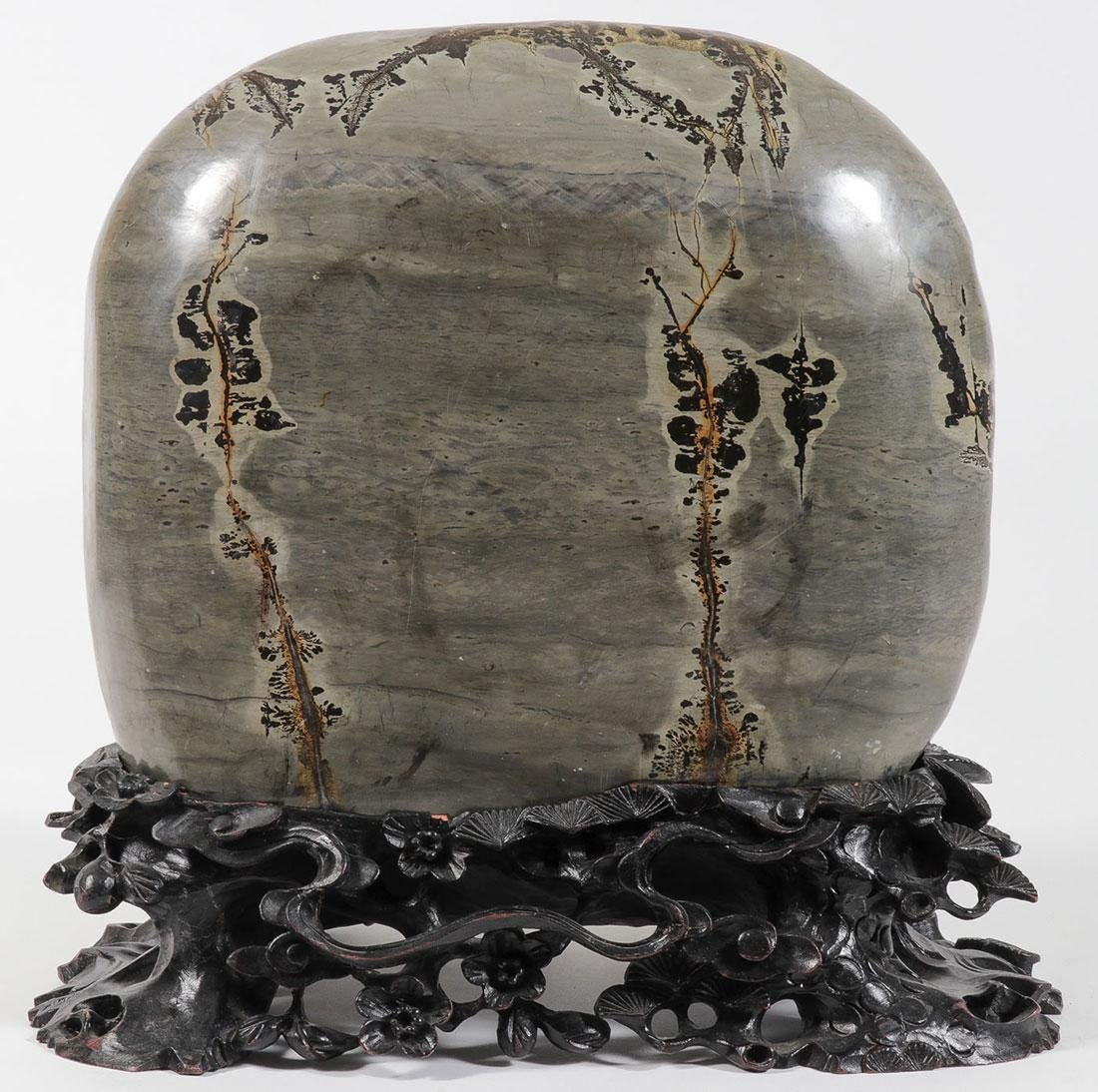 AN ATTRACTIVE POLISHED CHINESE SCHOLAR  ROCK