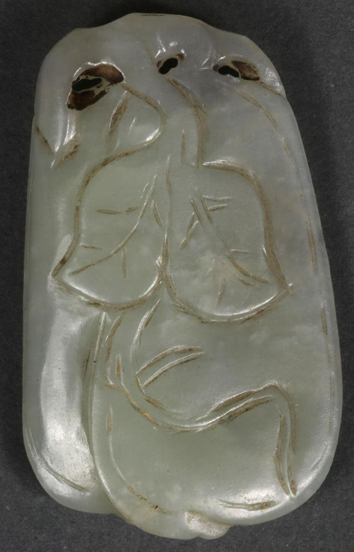THIRTY CHINESE CARVED JADE PENDANTS AND ORNAMENTS - 2