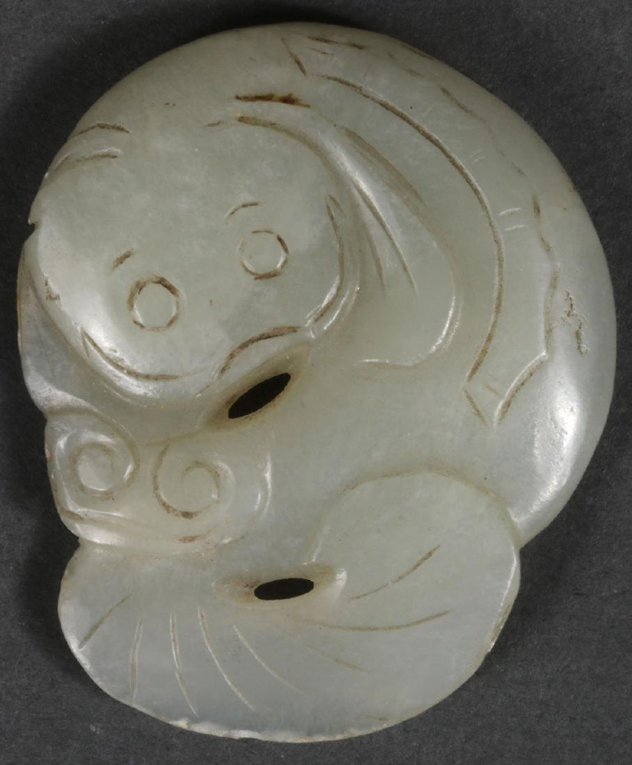 THIRTY CHINESE CARVED JADE PENDANTS AND ORNAMENTS - 3