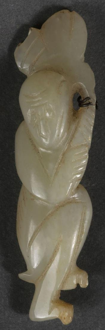 THIRTY-TWO CHINESE CARVED JADE PENDANTS - 8